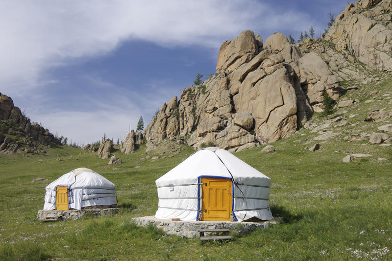 Mongolian gers stock photography
