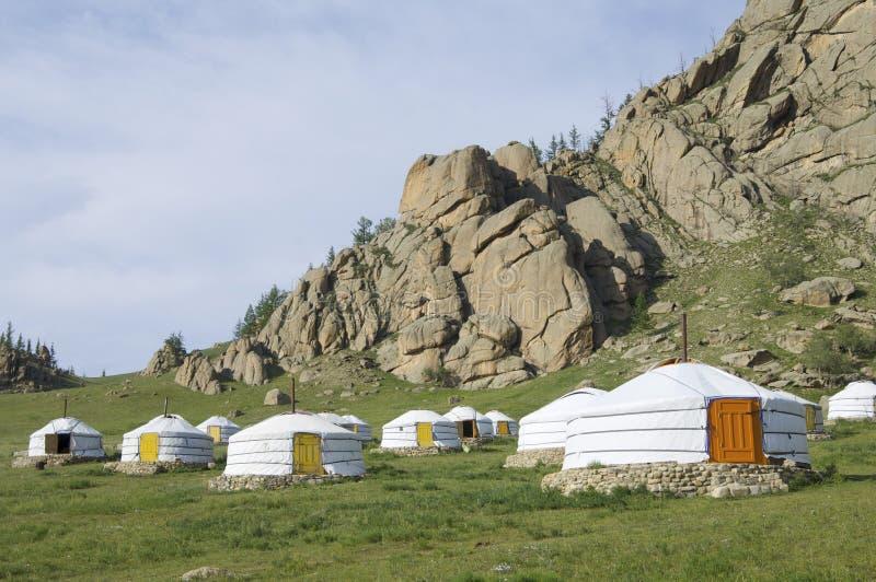 Mongolian gers stock photo
