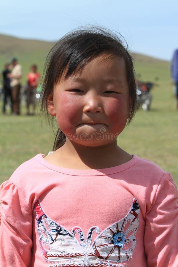 Mongolian Girl stock photo