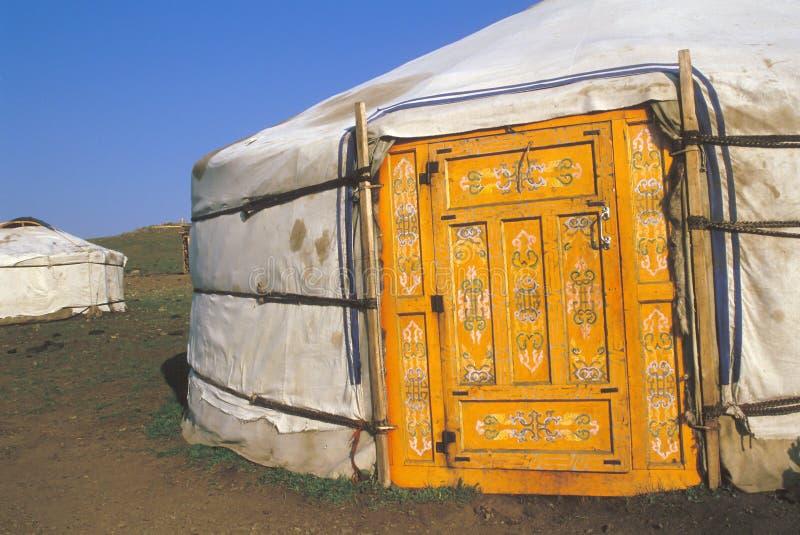 Mongolian home stock photography