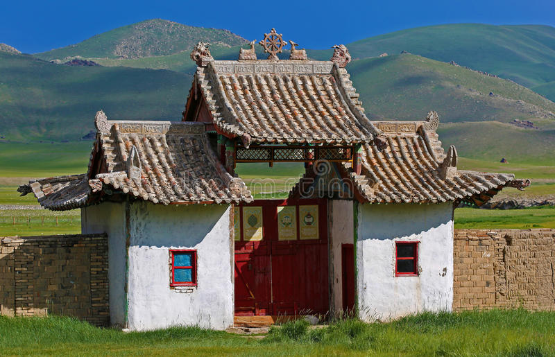 Mongolian house stock photo