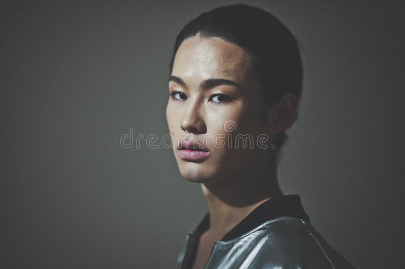 Billy Munkh, Mongolian Model stock photography