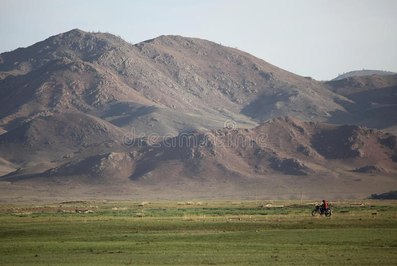 Mongolian Motorbike royalty free stock image