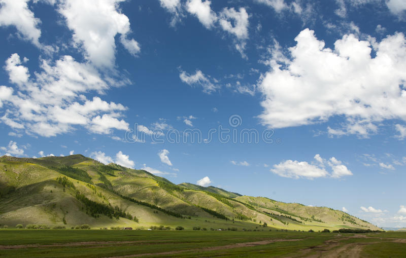 Download Mongolian Mountainscape stock photo. Image of hill, cloud - 36744108