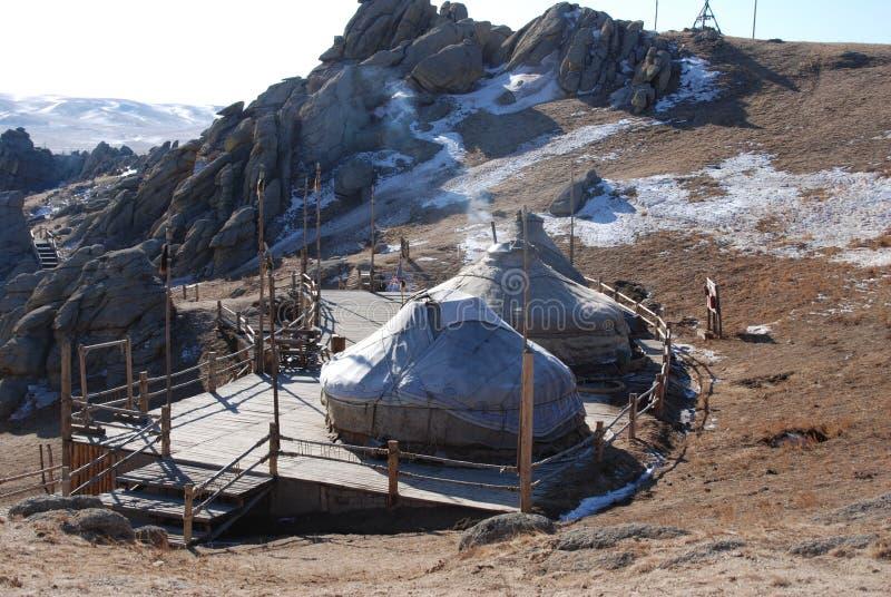 Mongolian nómada ger foto de stock royalty free