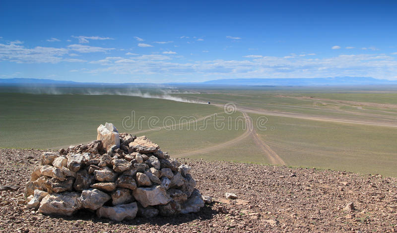 Mongolian Roads stock images