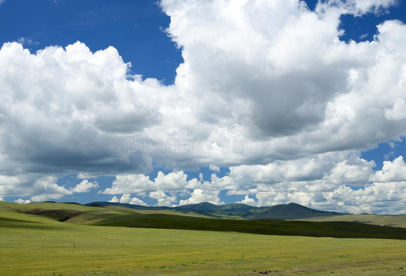 Download Mongolian Steppes stock image. Image of cloudy, landscape - 36743683