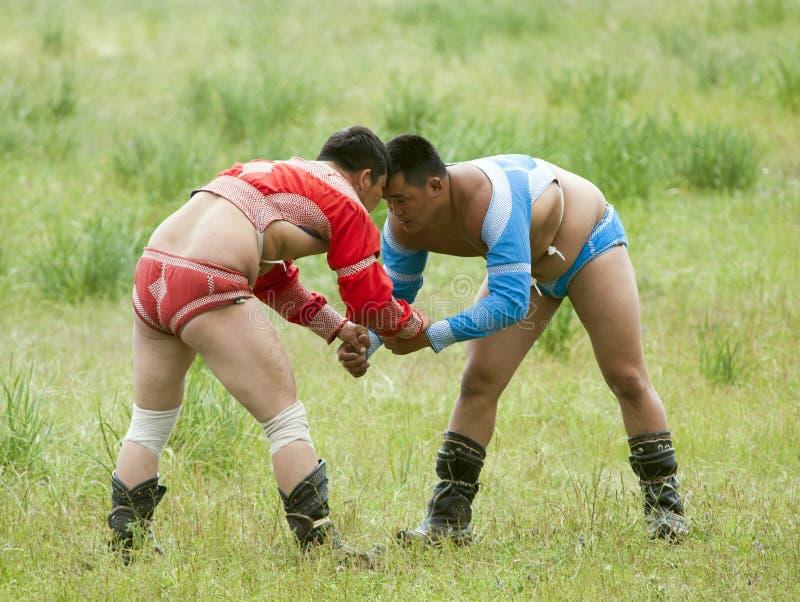 Mongolian Wrestling Match