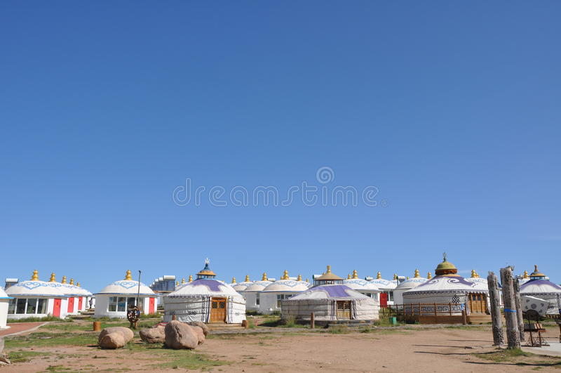 Mongolian yurt royalty free stock photos