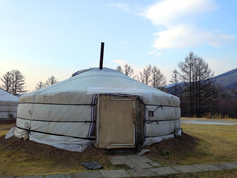 Mongolian Yurt. A typical Mongolian nomad housing Ger royalty free stock photos