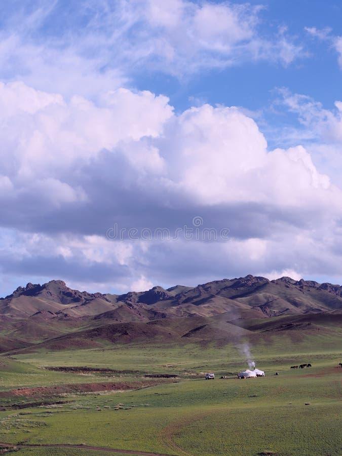 Mongoliet landskap royaltyfri bild