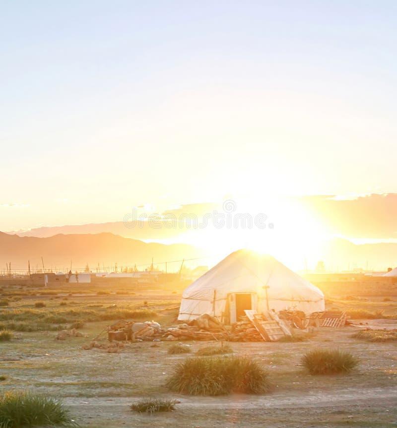 Download Mongolin yurt stock image. Image of cheerful, asia, mongolian - 11864427