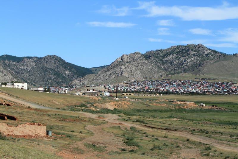 Mongolische Stadt stockfotos