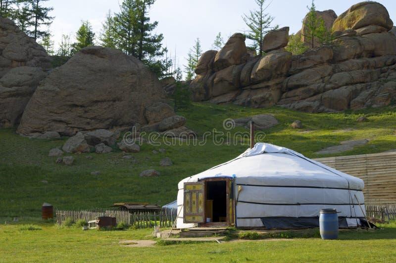 Mongolischer Ger lizenzfreie stockfotografie