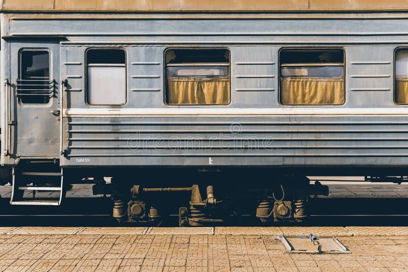 Mongolischer Weinlese-Zug stockfotos
