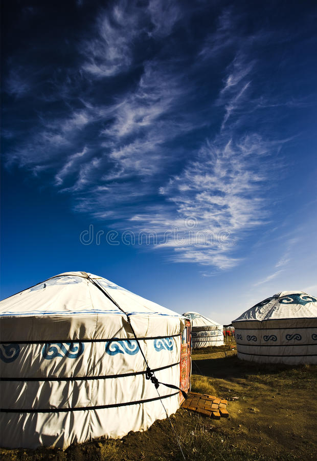 Mongolisches Haus stockbilder