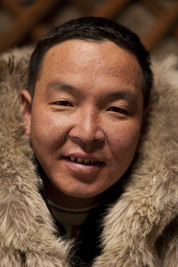 Mongolisk arbetare royaltyfri bild