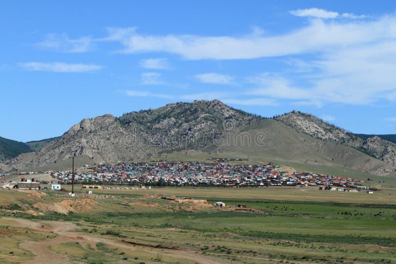 Mongolisk stad royaltyfria bilder