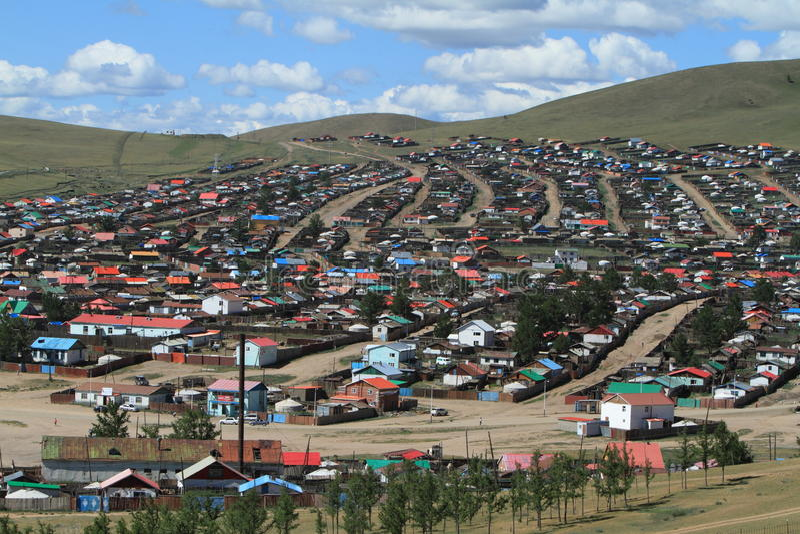 Mongolisk stad royaltyfri bild