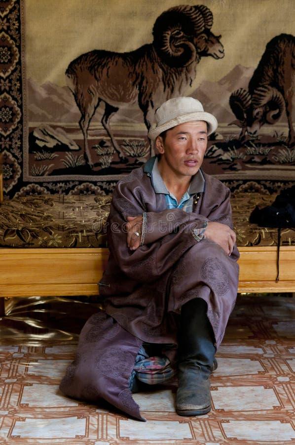 Mongoliskt folk royaltyfri bild
