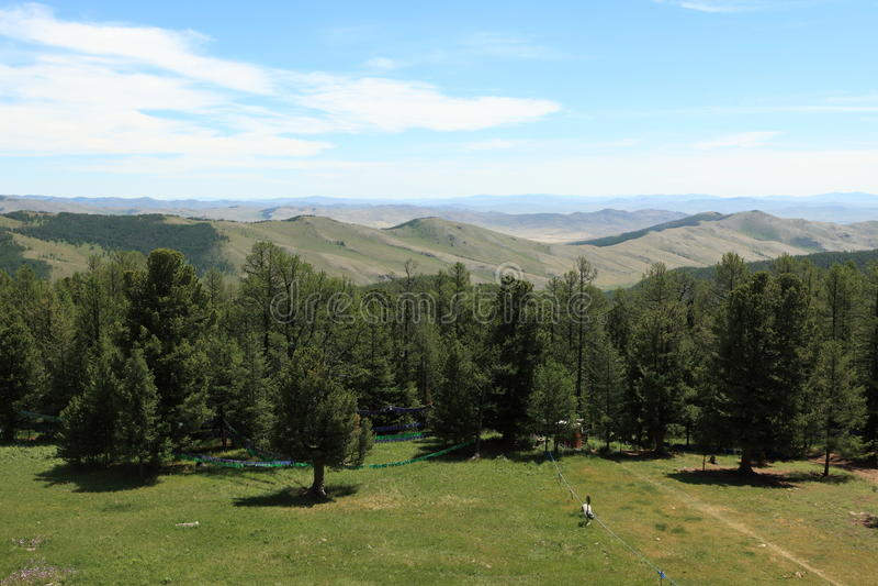 Mongoliskt landskap och natur royaltyfri foto