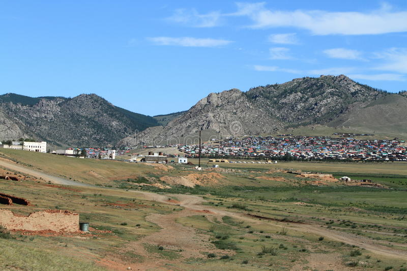 Mongolski miasto zdjęcia stock