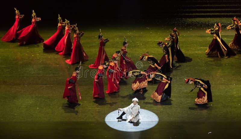 Mongolski tana Daligenbayar 4-Classical Dworski taniec zdjęcie stock