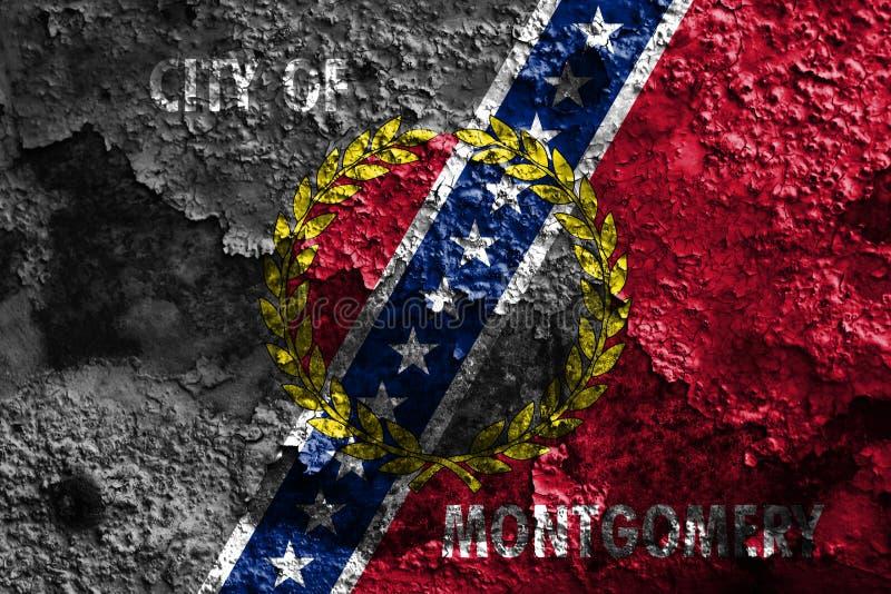 Mongomery miasta dymu flaga, Alabama stan, Stany Zjednoczone Amer zdjęcie royalty free