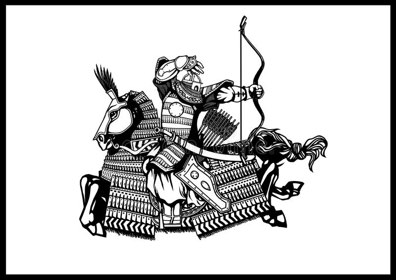 Mongools Archer stock illustratie