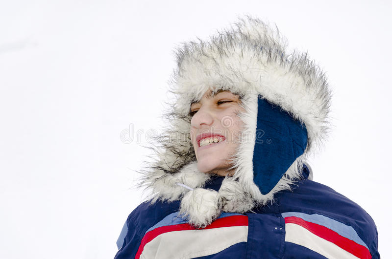 Mongools grappig jongensportret royalty-vrije stock afbeeldingen