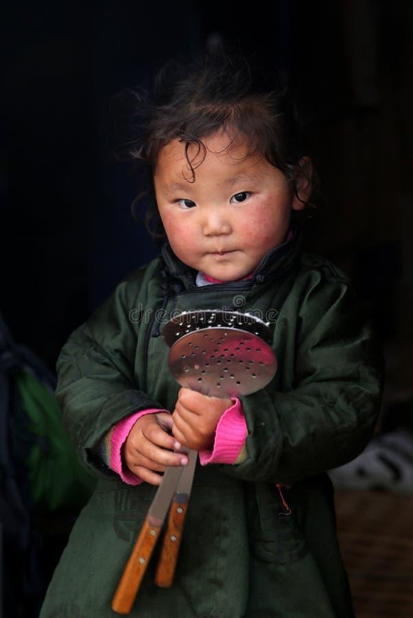 Mongools meisje royalty-vrije stock foto
