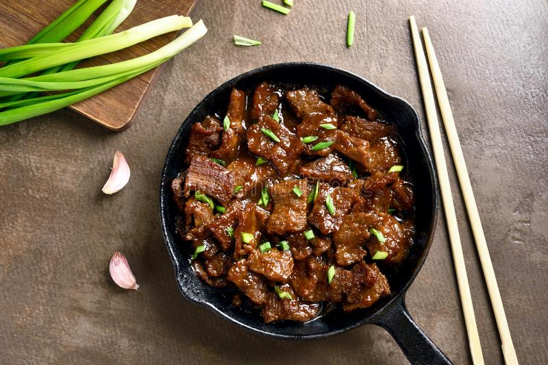 Mongools Rundvlees royalty-vrije stock afbeeldingen