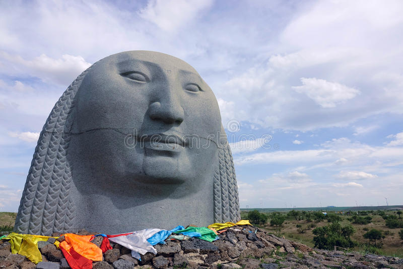 Mongools standbeeld royalty-vrije stock foto's