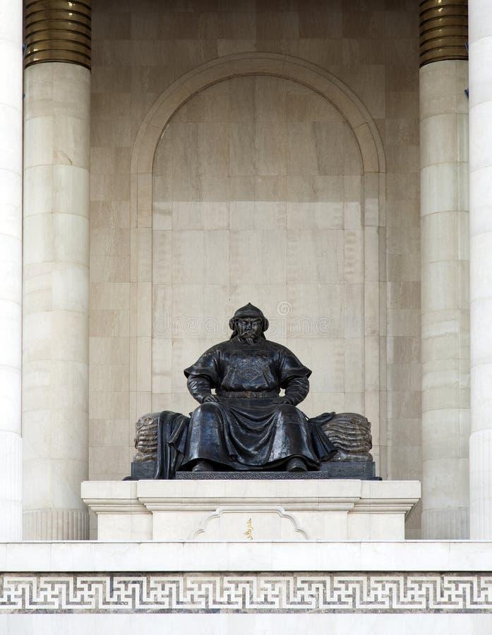 Mongools Strijdersstandbeeld royalty-vrije stock fotografie