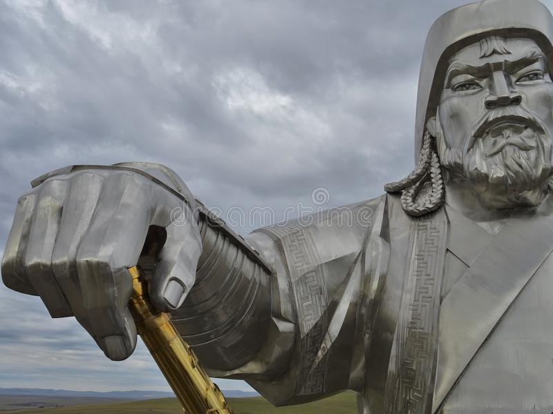 Mongools Strijdersstandbeeld royalty-vrije stock foto