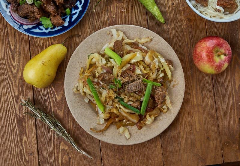 Mongoolse Rundvleesloempia stock afbeelding