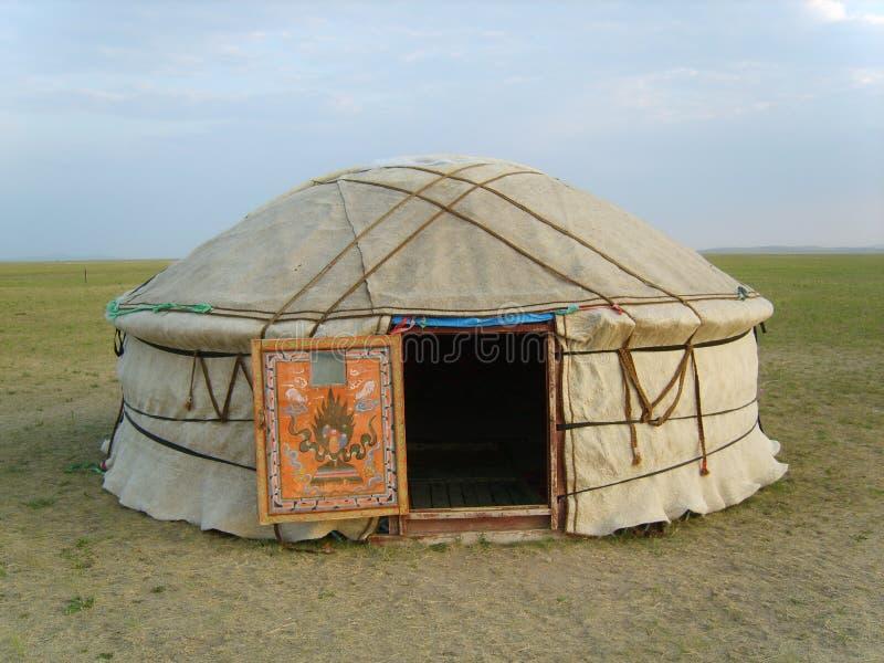 Mongoolse tent stock afbeelding