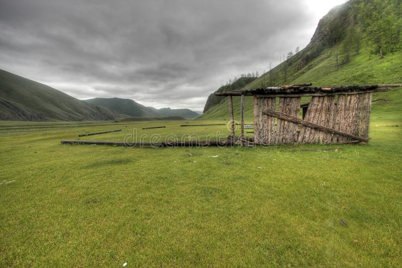 Mongoolse vlaktes royalty-vrije stock foto