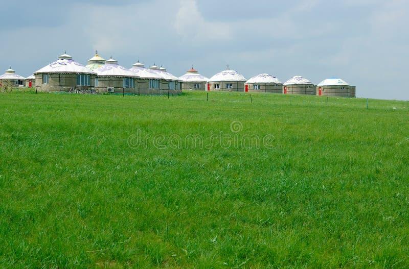 Mongoolse yurt royalty-vrije stock afbeelding