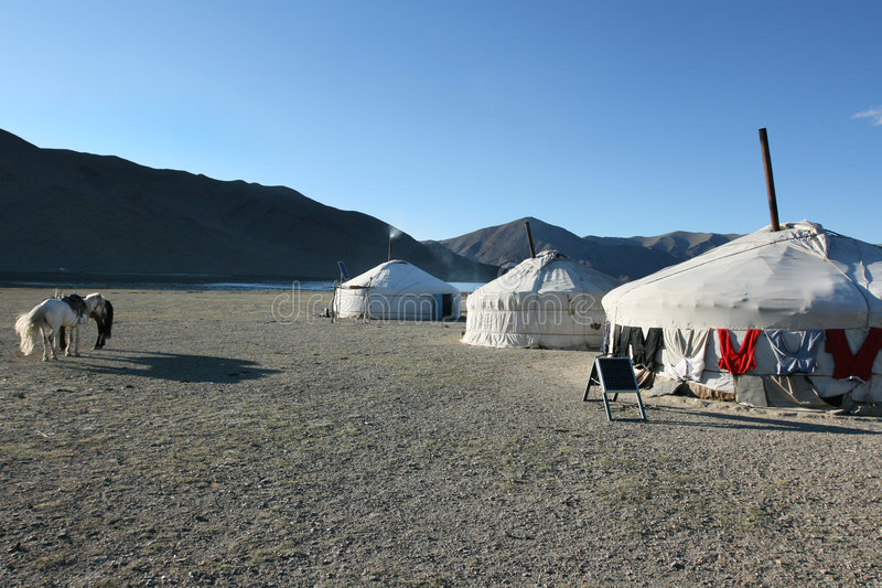 Mongoolse yurt royalty-vrije stock foto
