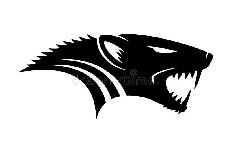 Mongoose black sign. Mongoose black sign on a white background royalty free illustration
