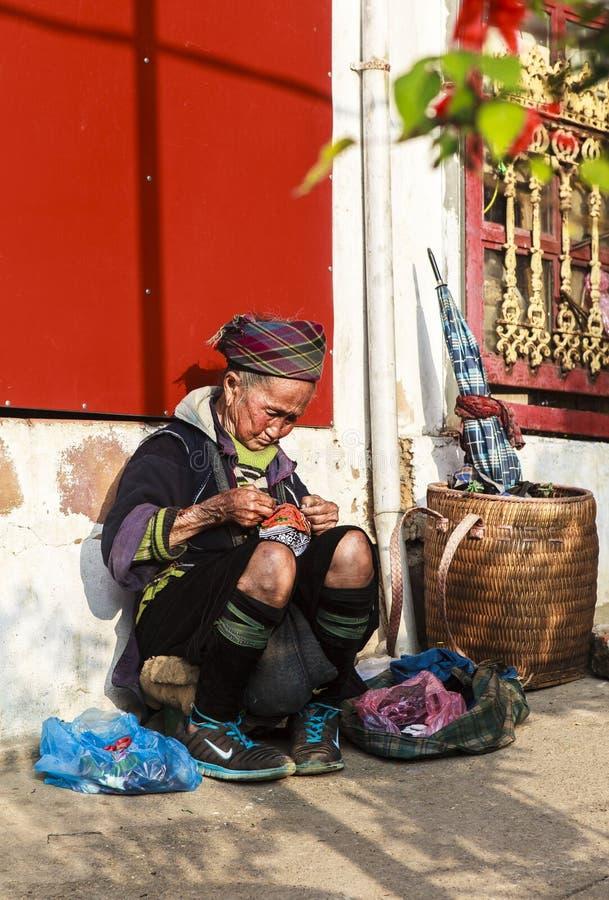 Mongvrouwen in Vietnam royalty-vrije stock afbeelding