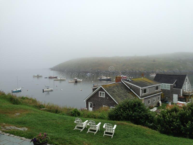 Monheganeiland, Maine stock afbeelding