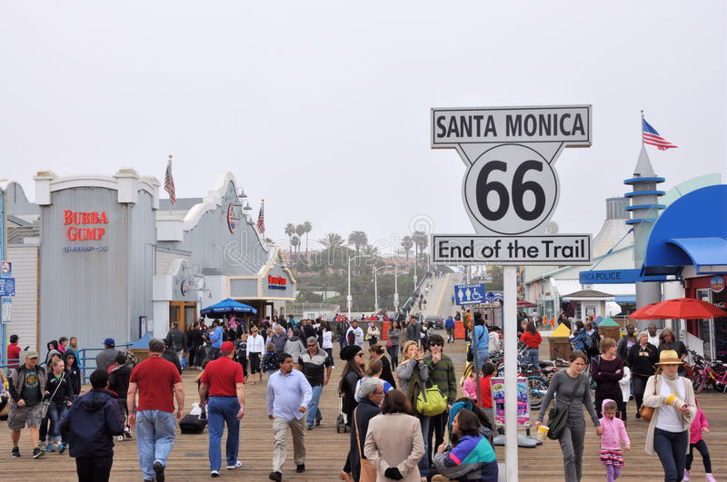 Monica-Pier stockfotos
