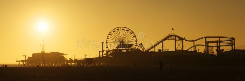 monica pier santa sunset στοκ φωτογραφίες