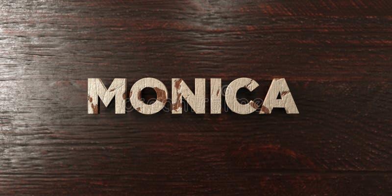 Monica - titre en bois sale sur l'érable - image courante gratuite de redevance rendue par 3D illustration libre de droits