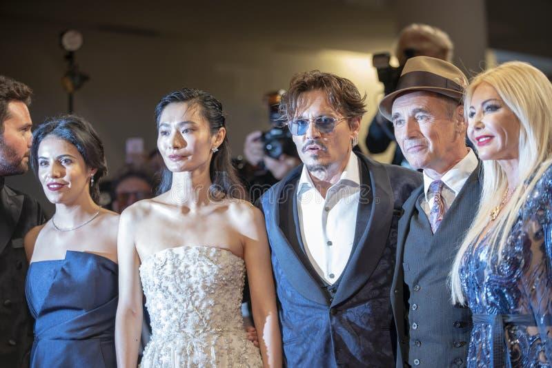 Monika Bacardi, Mark Rylance, Johnny Depp, Gana Bayarsaikhan stock photo