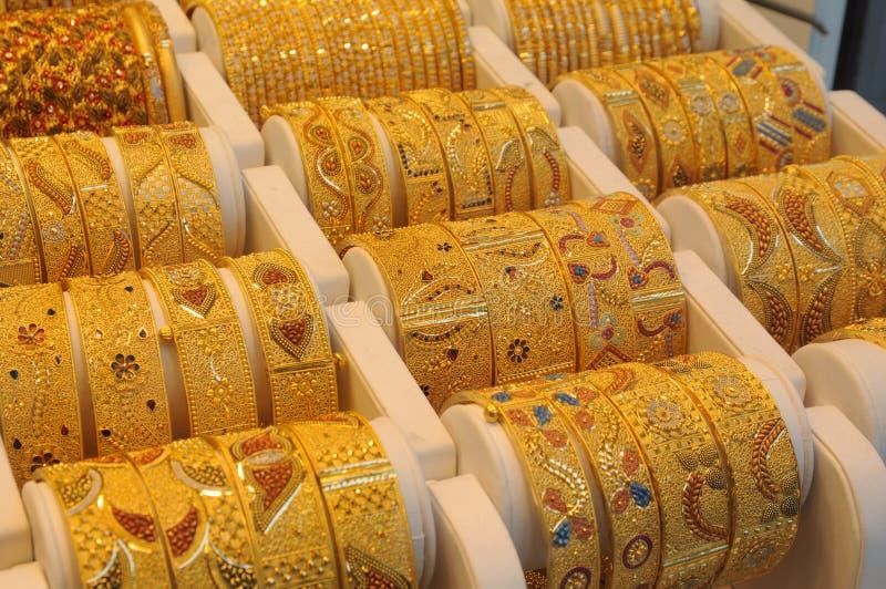 Monili all'oro Souq della Doubai immagine stock