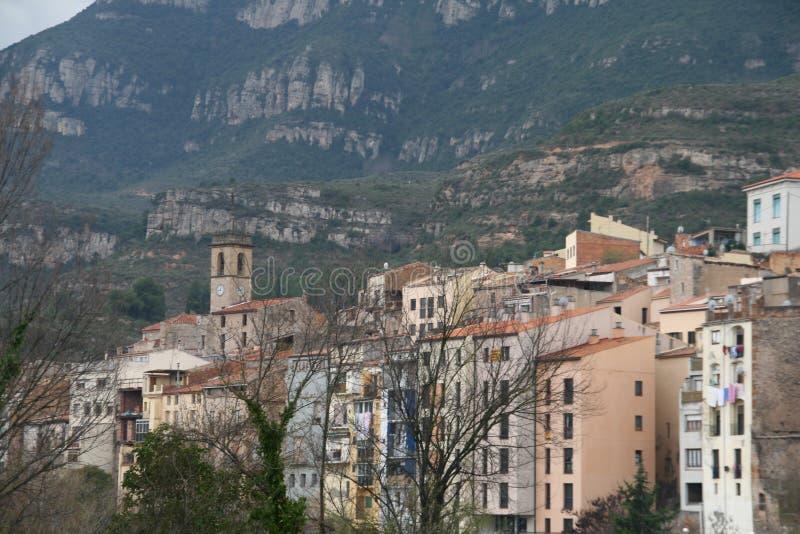 Monistrol de Montserrat, Catalonia, Spanien arkivbilder