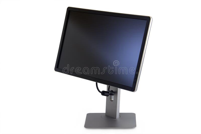 Moniteur avec un écran noir photographie stock